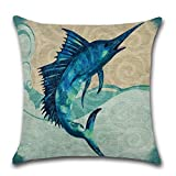 Haggai 1 PC 45 * 45 cm Sea Animal Theme Pillowcase Cushion Cover Home Decoration(None one size H03)