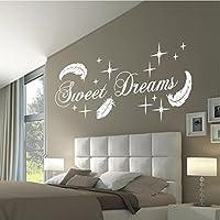 Schön HomeTattoo ® WANDTATTOO Wandaufkleber Sweet Dreams Federn Sterne Deko  Schlafzimmer Motiv 767 XL ( L X