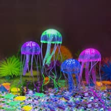 UEETEK decoración de 4pcs brillante Artificial para acuario peces tanque acuario de las medusas