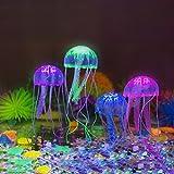 Perfecto Pack de cuatro medusas flotantes de colores brillantes para tus peces