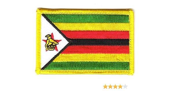 Flaggen Aufn/äher Patch Simbabwe Fahne Flagge NEU