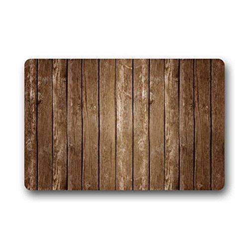 Jkimiiscute Vintage vertikalen Streifen Holz Muster Print schmutzabweisend Farbe Fußmatten Fußmatte Fußmatte Teppich Innen Fußmatten Welcome Fußmatte 59,9x 39,9cm L x W -