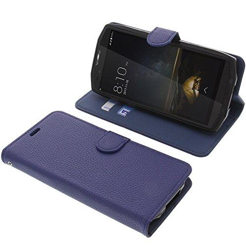 foto-kontor Tasche für Blackview BV9000 / BV9000 Pro Book Style blau Schutz Hülle Buch