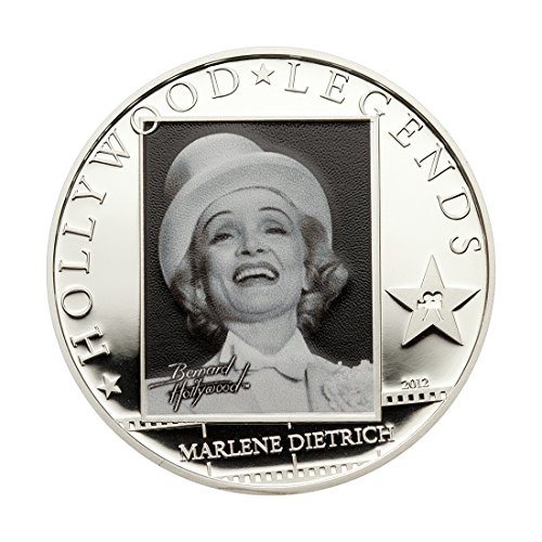 Hollywood Legends - Marlene Dietrich $5 monete d' argento - Isole Cook 2012