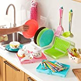 #5: Ontime Foldable Dish Plate Drying Stand Holder Drainer Rack Organiser, Assorted Colour