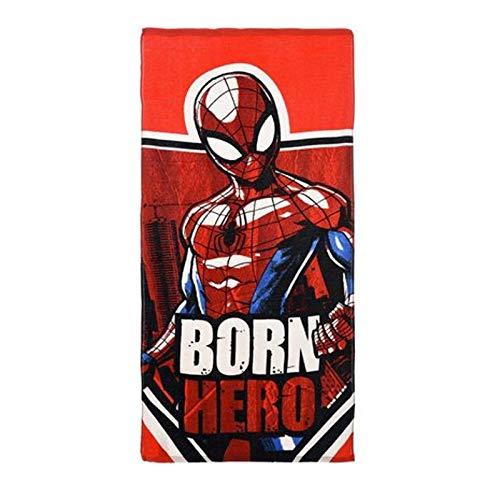 Disney Hot Kostüm - Marvel Spiderman Jungen Handtuch, Born Hero, One Size
