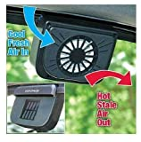 PEARL ACE Solar Powered Car Window Windshield Auto Air Vent Cooling Cool Fan