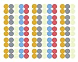 Ätherische Öle Etiketten 10 Blatt 1500 Mehrfarbige ätherisches Öl Flaschenverschluss Aufkleber Perfekte Deckel Aufkleber, um Lhre Öle Organisiert zu Halten