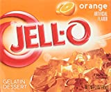 Jell-O Gelatin Dessert 3 Ounce Boxes Pack Of 4 (Orange)