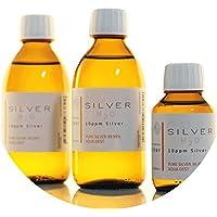 Preisvergleich für PureSilverH2O 600ml Kolloidales Silber (2X 250ml/10ppm) + Flasche (100ml/10ppm) Reinheit & Qualität seit 2012