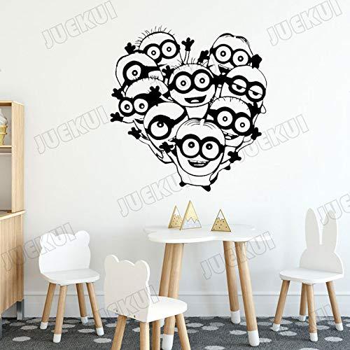 ljradj Américain Classique Personnage De Bande Dessinée Personnage Sticker Mural pour Chambre d'enfants Pépinière Bébés Chambre Maison Art Peintures Murales Vinyle Autocollants Blanc 80X84cm
