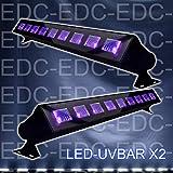 Ibiza PACK 2 LED-UVBAR Barre de lumière UV DJ LIGHT SONO LUMIÈRE LED