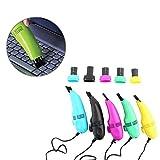 Mavis Laven Tastaturreiniger, Mini-USB-Tastaturstaubsauger mit Bürstenstaub-Reinigungsset für PC, Laptop, Notebook, Computer-Reinigungssets(Schwarz)