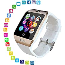 FOONEE Reloj Inteligente con cámara, Q18 Bluetooth Smartwatch Impermeable Deporte Smart Fitness Tracker Reloj de