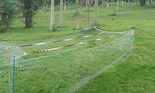 Agfabric Gartennetz - Vogelschutznetz - reflektierendes Band zum Schutz des Waldes mit Knoten, 7,6 x 15,2 m, Weiß -