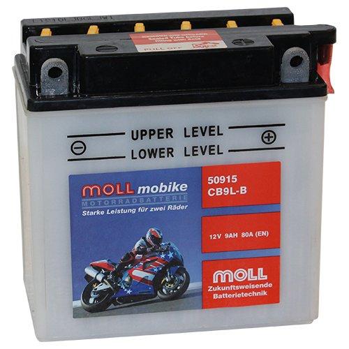 Moll mobike Motorradbatterie CB9L-B 9Ah 12V 80A - 50915SM