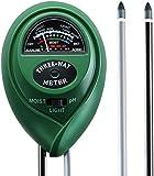 Soil pH Tester, TopElek 3-in-1 Soil Tester Moisture Meter, Sunlight Tester, Soil pH Tester Kit for Garden, Farm, Lawn Plants Care ( No Batteries Needed)