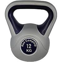 Bad Company Kettlebell als Set oder einzeln I 2 Kg – 20 Kg I Kunststoff Kugelhantel und Ablage-Rack I Schwunghantel Workout - Color Line