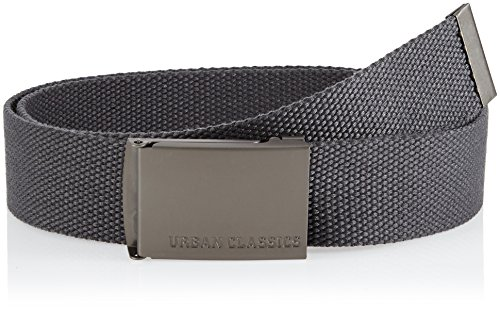 Urban Classics Canvas Belts Ceinture, Gris - Grau (charcoal 91), 120 cm Fabricant: Taille Unique Mixte