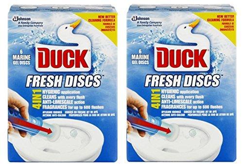2 x Toilet Duck Fresh Discs Marine