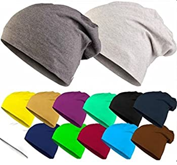 Men Women Candy Solid Color Plain Slouch Beanie Cotton Outdoor Cycling Skull Hat 0