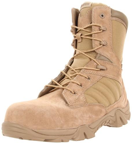 Bates Mens GX-8 Comp Toe Side Zip Work Boot Desert/Tan