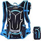 Erwachsene Fahrradrucksack 18L Ultraleicht Trinkrucksack Reiserucksack Sportrucksack MTB-Reiten Rucksack Tagesrucksack mit Rucksack Regenschutz Outdoor, Blau