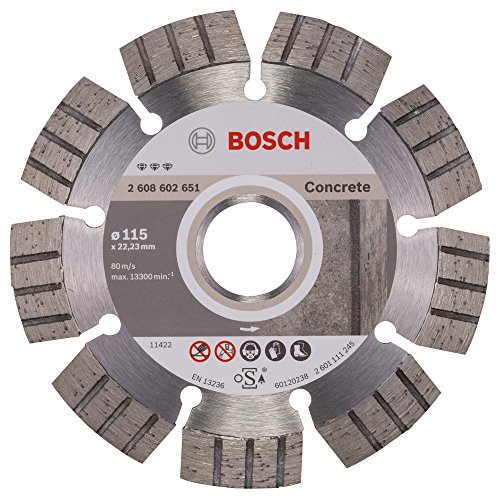 Bosch 2608602651 Disque à tronçonner diamanté best for concrete 115 x 22,23 x 2,2 x 12 mm