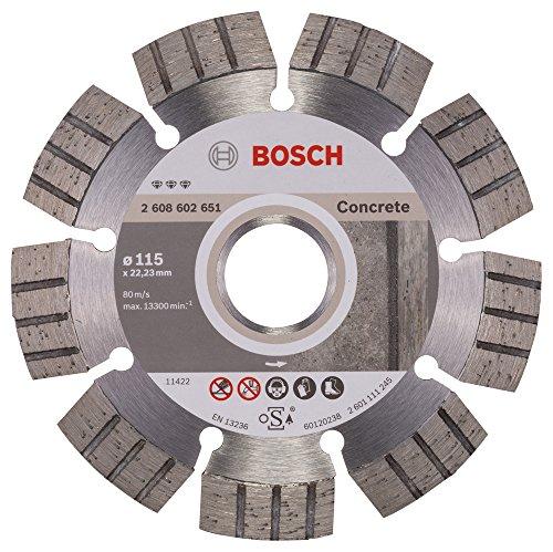 Bosch Professional Diamanttrennscheibe Best für Concrete, 115 x 22,23 x 2,2 x 12 mm, 2608602651