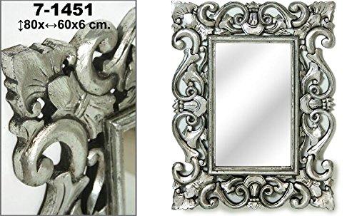 DonRegaloWeb-Espejo-de-pared-de-madera-rectangular-de-estilo-clasico-en-color-plateado