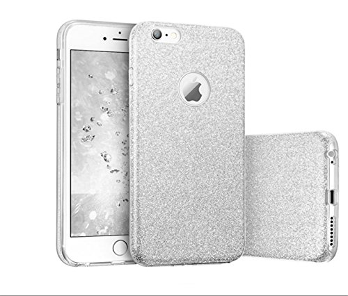 KSHOP Case cas TPU Silicone pour iphone SE / iphone 5 / iphone 5s Coque Case Cover Housse de protection Shell avec mince motif d'impression - La Licorne Les nuagesarc-en-ballon Glitter05