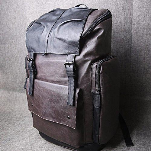 TBB-Rucksack Double Shoulder Bag Outdoor große Kapazität Pauschalreise Fashion Trend Freizeit Tasche coffee