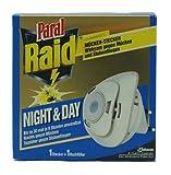 Raid® Day & Night Insekten Stecker inkl. 1 Nachfüller/ Starter Kit/ gegen Mücken, Fliegen und Ameisen