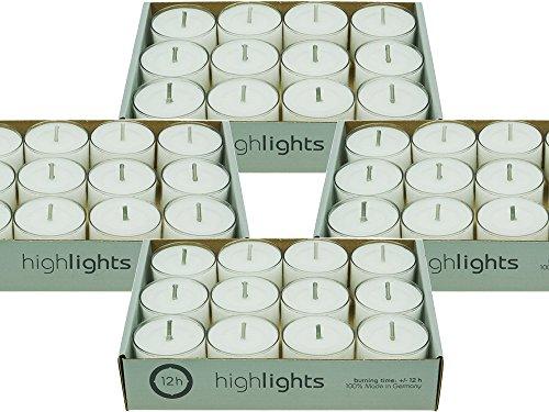 60 Teelichter HighLights Im Acrylcup - 12 Stunden Brenndauer (5 x 12er Pack)