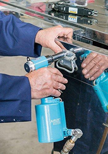 HAZET Blindniet-Pistole (Für Popnietarbeiten, vier Mundstücke für verschiedene Nietengrößen, Zugkraft: 8700 N, robustes Metallgehäuse) 9037SPC