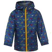 Kids Boys Lightweight Rain Jacket Coat Hooded Pac Away Showerproof Mac Childrens