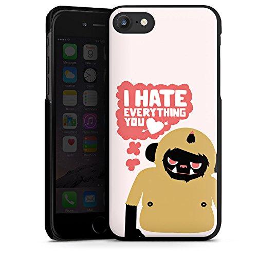 Apple iPhone X Silikon Hülle Case Schutzhülle Monster Sprüche Liebe Hard Case schwarz