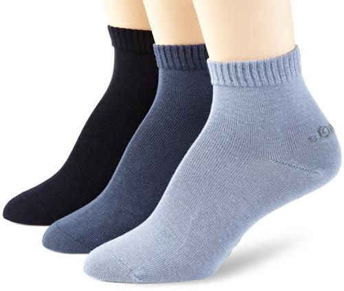 s.oliver - S21001 - Größe 43//46 - Socken quarter 6 Paar grau sort