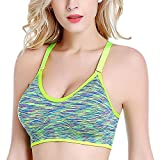 Bra, Sport BH, Bra Damen, Owens Damen High Impact Shockproof Seamless Stretchy Verstellbarer Riemen Anti-Schlaffe mit abnehmbarem, gepolstertem Support Sportswear für Yoga Fitness Laufen