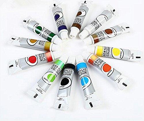 Vernice acrilica set & set di acquerelli-12pz Vivid coloursnon-toxic colori acrilici