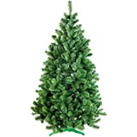 DecoKing 52525 220 cm Sapin de Noël Artificiel Socle en Plastique Arbre de Noël Fête de Noël Vert Lena