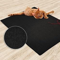 casa pura - Alfombra rascador para gatos (color negro, de sisal resistente, 3 tamaños disponibles, producto natural sin sustancias químicas)