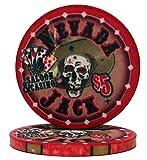 Brybelly BRY Bauch cpnj- $525Rolle von 25–$5Nevada Jack 10Gramm Keramik Poker Chip