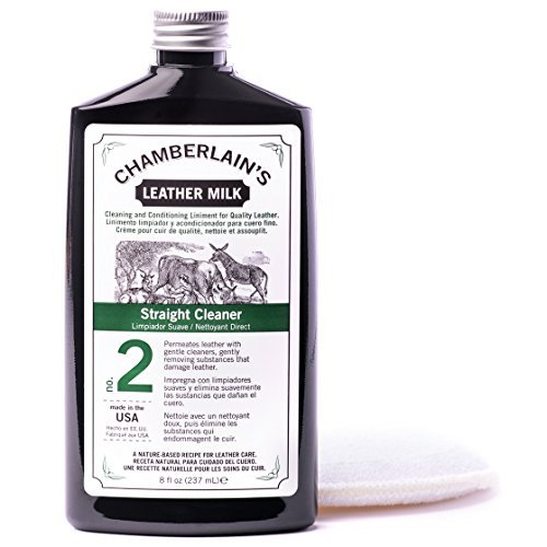 Price comparison product image Chamberlain's Leather Milk Straight Cleaner Formula No. 2 | All Natural Deep Cleaner For Furniture, Auto Interiors, & Apparel. 2 Sizes! Free Cleaning Pad! 6 OZ