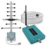 ANNTLENT Handy signalverstärker 800/900/1800/2100/2600MHz 2G 3G 4G LTE Repeater GSM Verstärker Sprachanruf und Daten für Multi Mobile Netzwerkanbieter