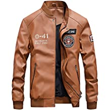 a8566555bf851 Vogstyle Uomo Nuovo PU Pelle Baseball Giacca Casual Zip Cappotto Jacket