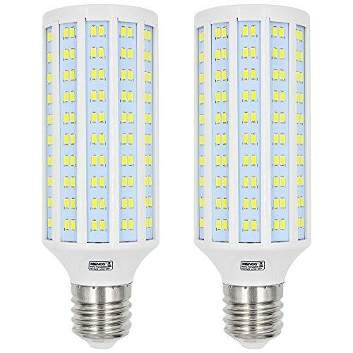 MENGS Pacco da 2 E40 40W (equivalenti a 300W) Lampadine a LED Bianco Freddo 6000K AC 220-240V 3900LM con materiale in lastra di alluminio