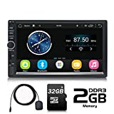 Panlelo S1 Plus Android 2 DIN Car Stereo 64 GB Memory Universal 7 pollici Touch Screen Navigazione GPS AM Radio FM Quad Core 2 GB RAM 32 GB ROM Scheda SD 32 GB Car Audio Player Wi-Fi BT