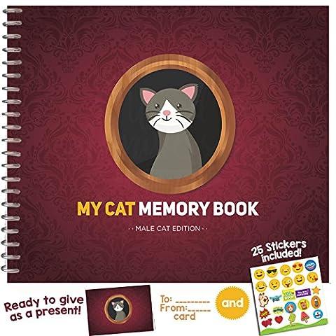 Mein Haustier Erinnerungsbuch Male Cat