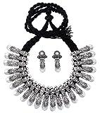BALLERINA'S Oxidized Silver Necklace Earing Set for Women, Balaji (BsAOTJNES22008)